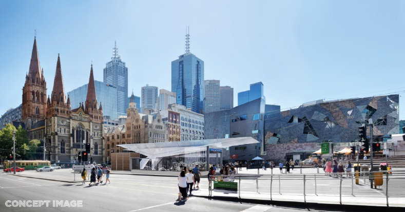 HAVE YOUR SAY: Proposed Metro Tunnel Project Station Entrance at Federation Square